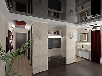 Визуализация. Квартира-студия в стиле хай-тэк_2
