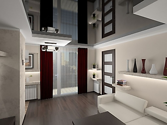 Визуализация. Квартира-студия в стиле хай-тэк_3